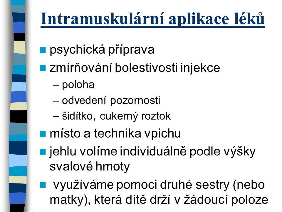 Intramuskulární aplikace léků