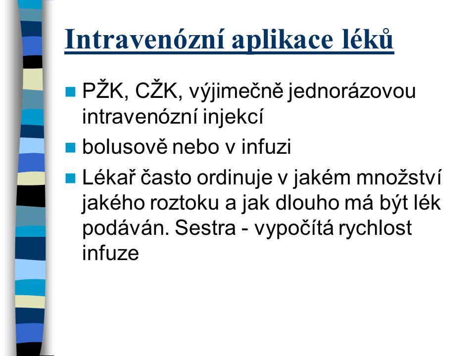 Intravenózní aplikace léků