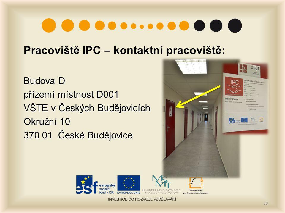 Pracoviště IPC – kontaktní pracoviště: