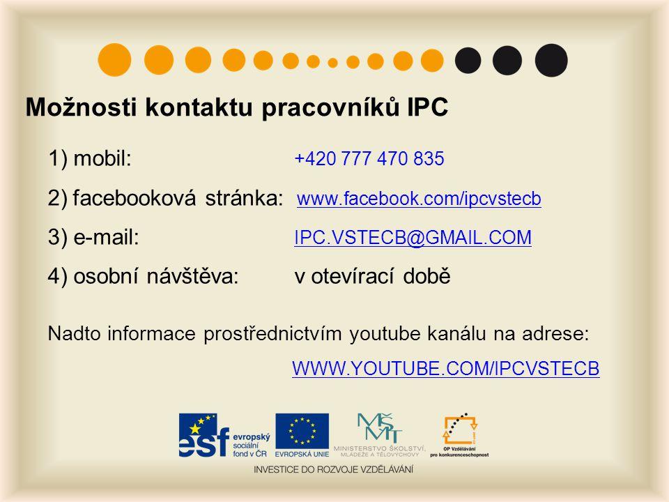 Možnosti kontaktu pracovníků IPC