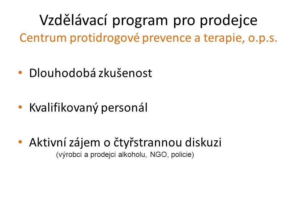 (výrobci a prodejci alkoholu, NGO, policie)