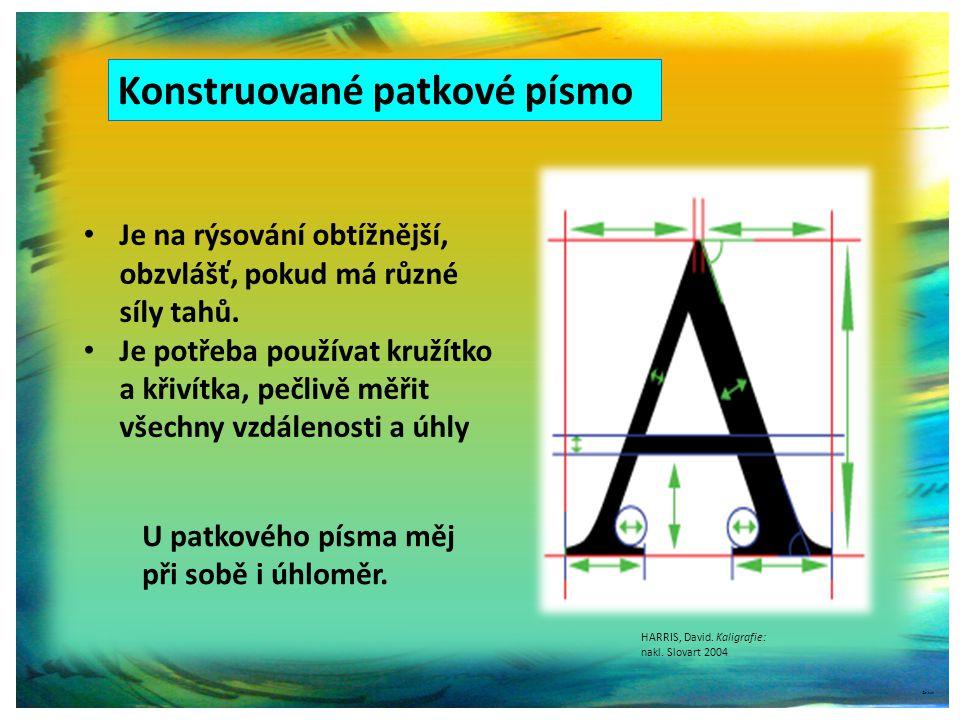 Konstruované patkové písmo