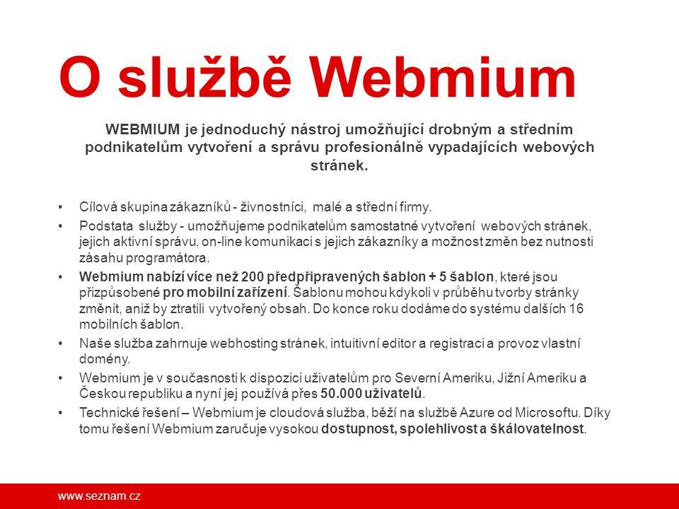 O službě Webmium