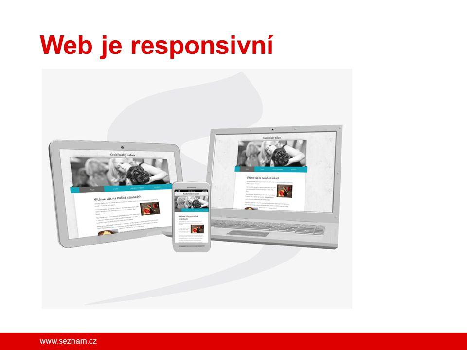 Web je responsivní