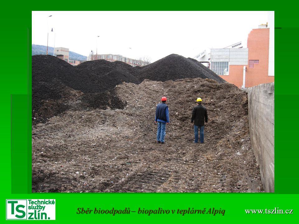 Sběr bioodpadů – biopalivo v teplárně Alpiq