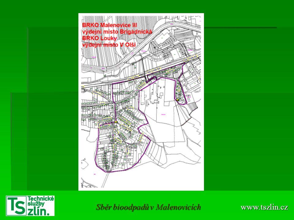 Sběr bioodpadů v Malenovicích
