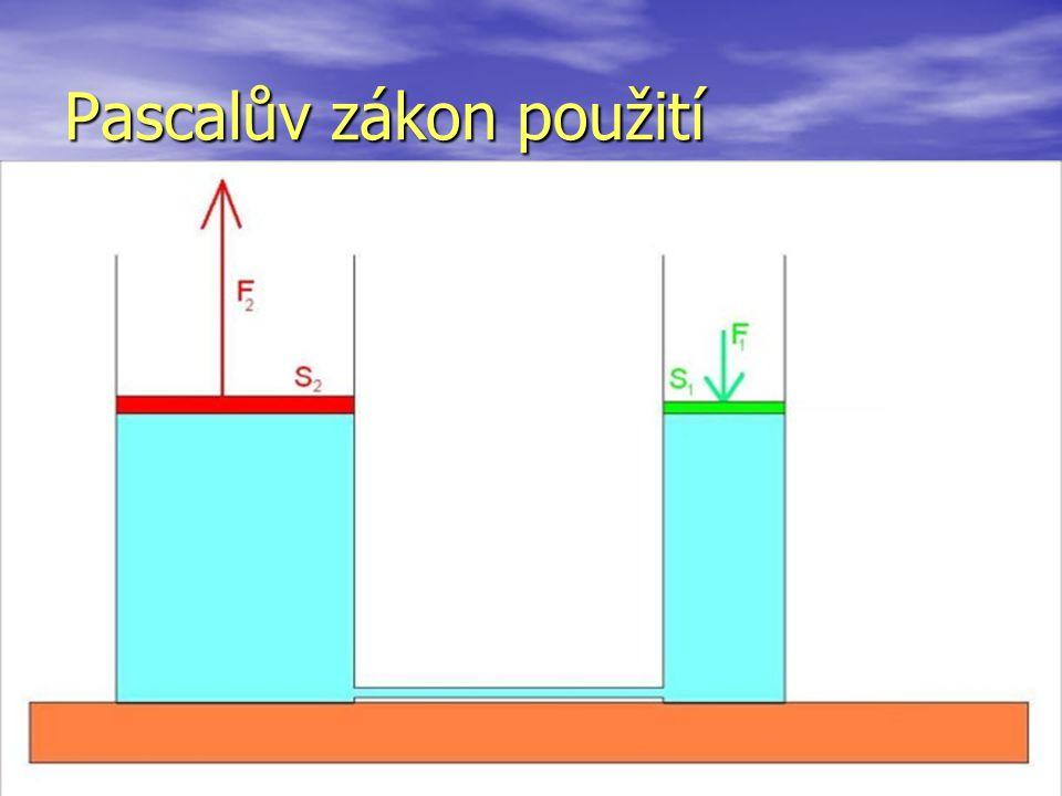 Pascalův zákon použití