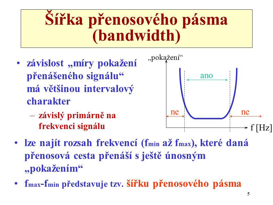 Šířka přenosového pásma (bandwidth)