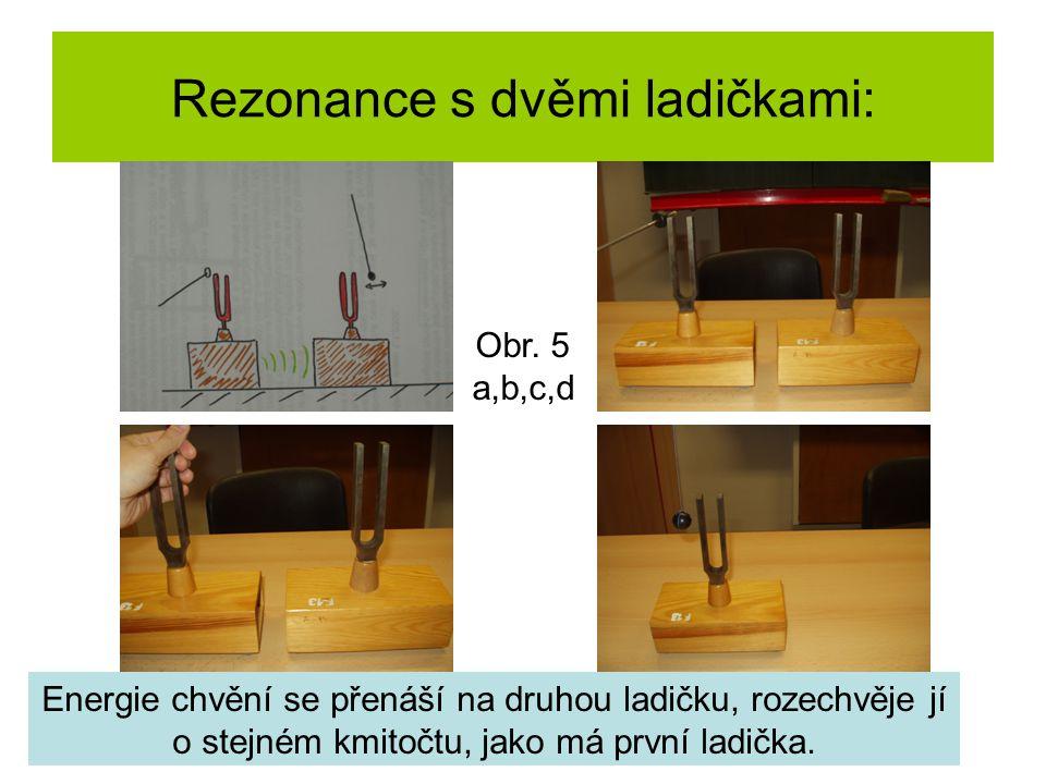 Rezonance s dvěmi ladičkami: