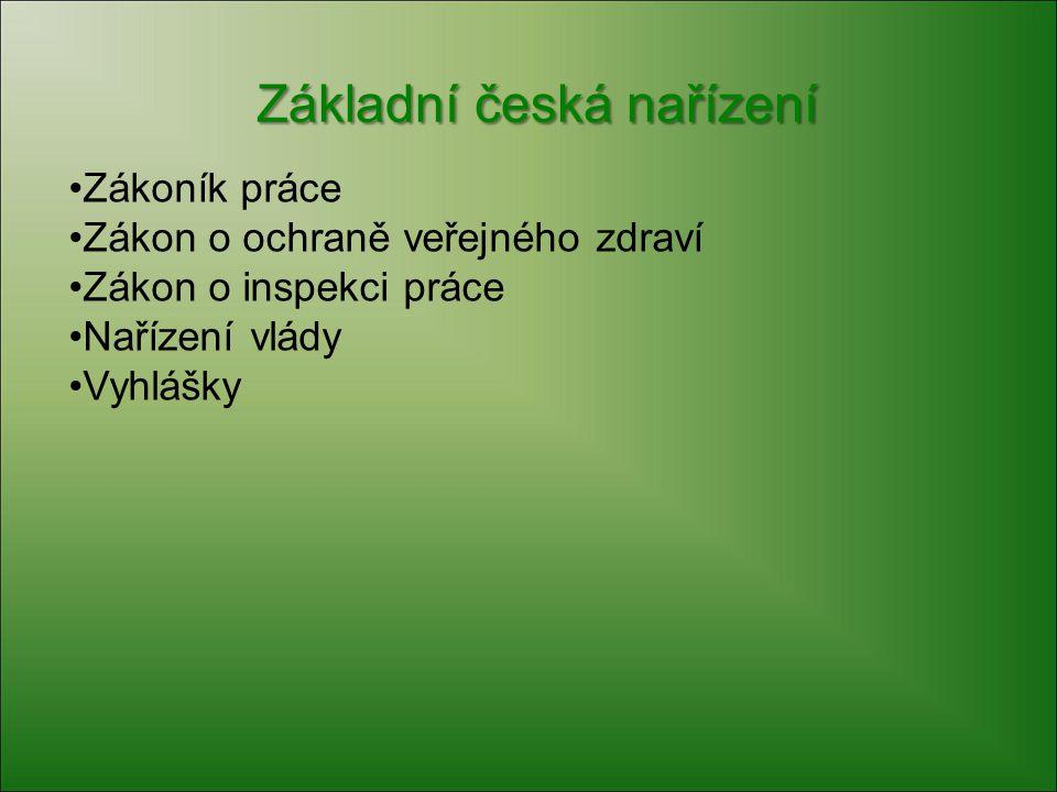 Základní česká nařízení