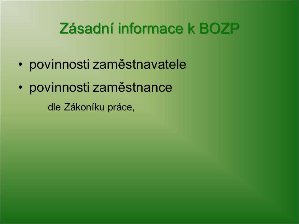 Zásadní informace k BOZP