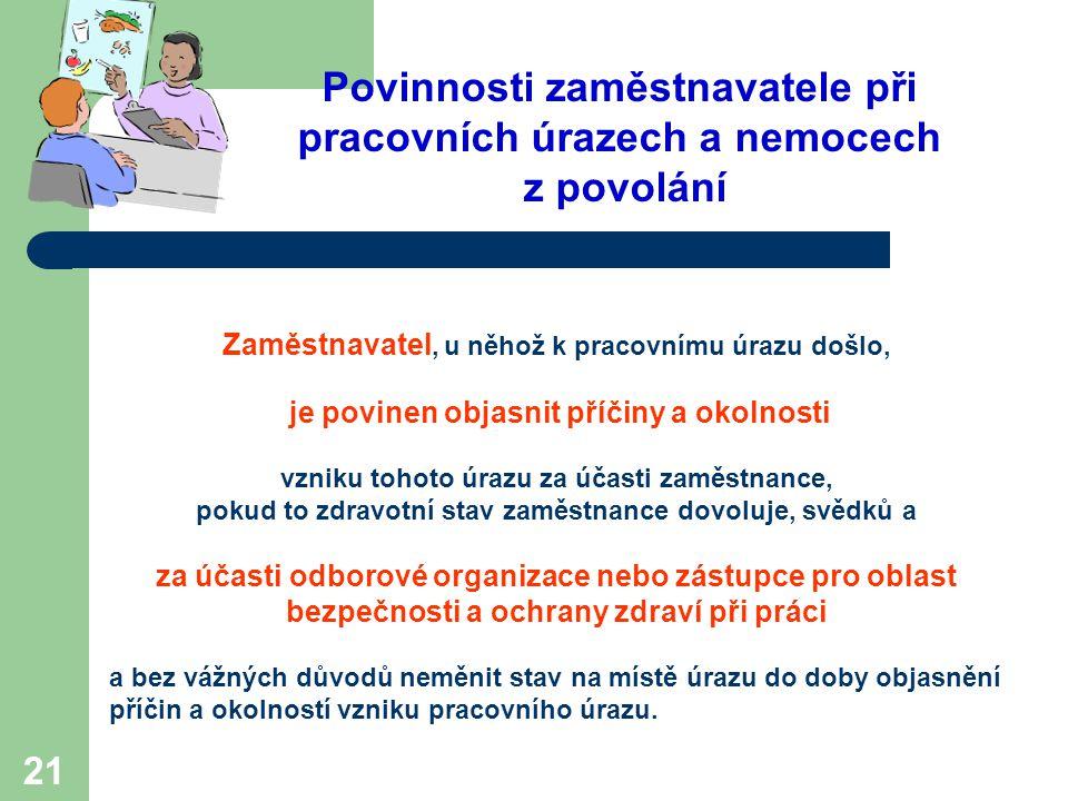 Povinnosti zaměstnavatele při pracovních úrazech a nemocech z povolání