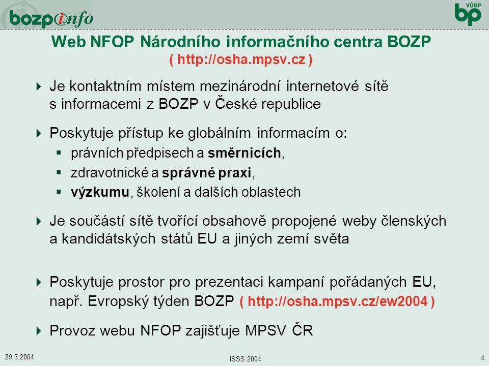 Web NFOP Národního informačního centra BOZP ( http://osha.mpsv.cz )