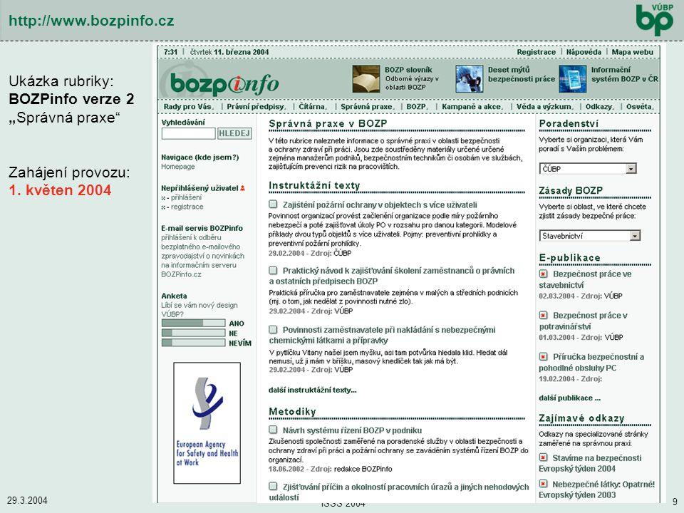 """Ukázka rubriky: BOZPinfo verze 2 """"Správná praxe"""