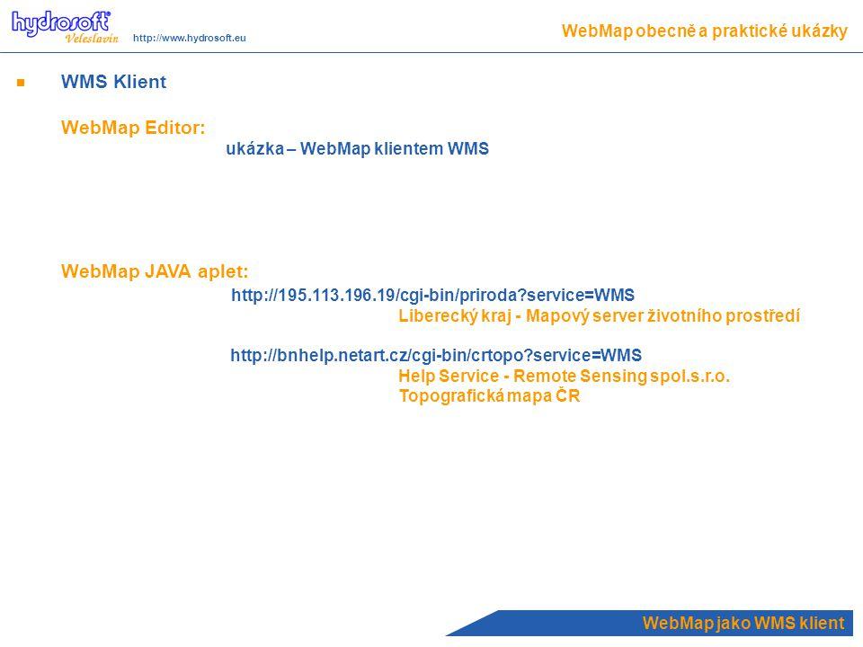 WMS Klient WebMap Editor: WebMap JAVA aplet: