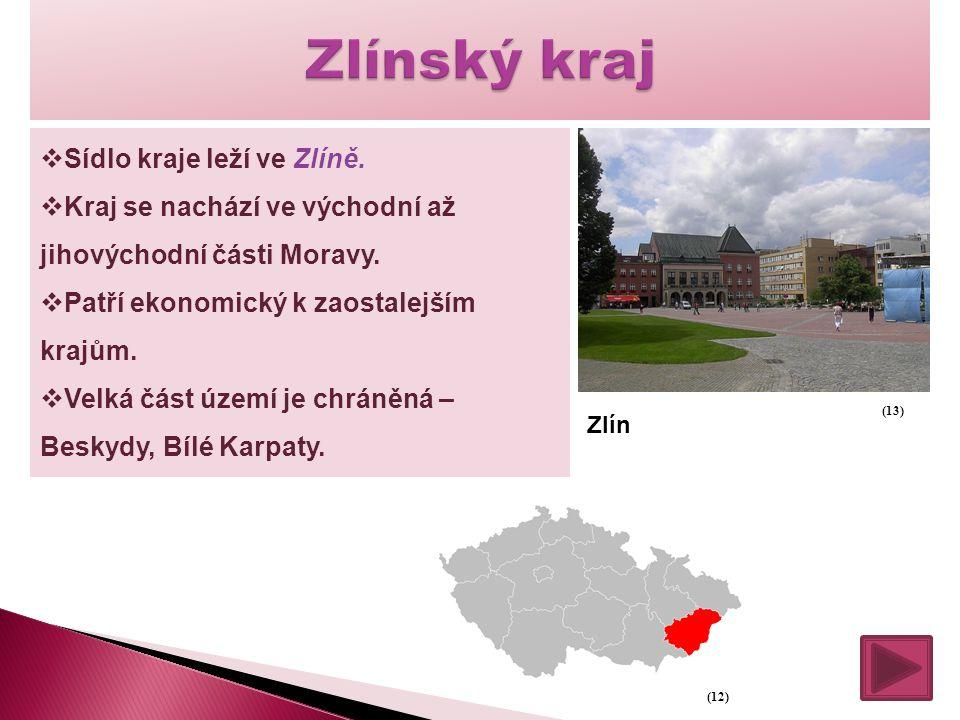 Zlínský kraj Sídlo kraje leží ve Zlíně.