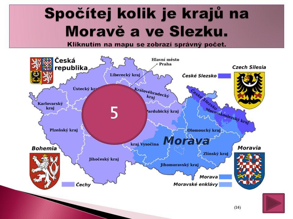 Spočítej kolik je krajů na Moravě a ve Slezku