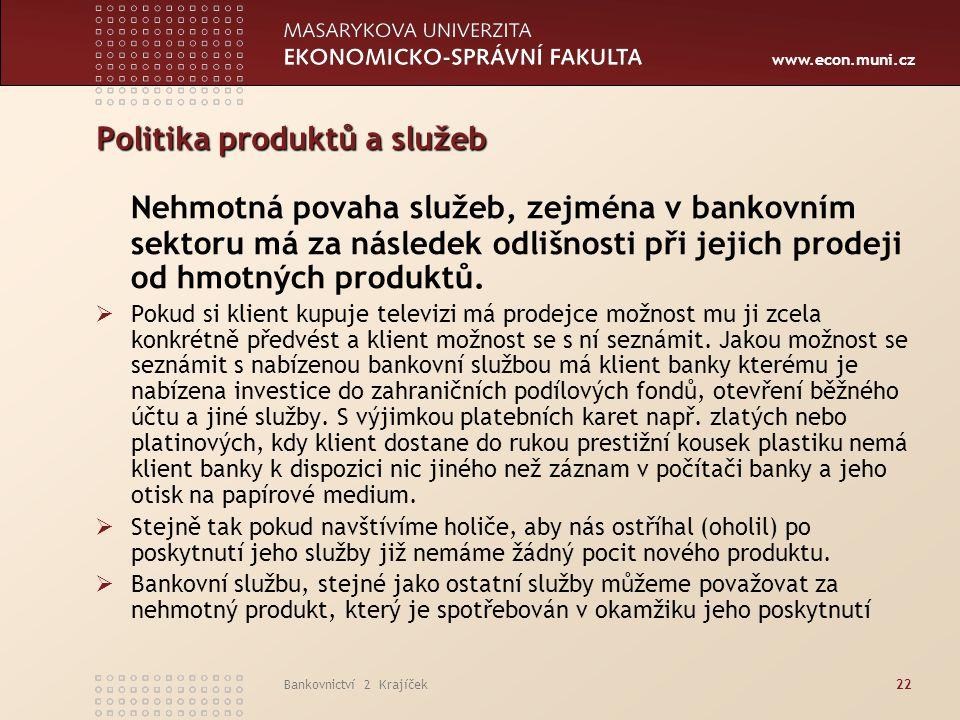 Politika produktů a služeb