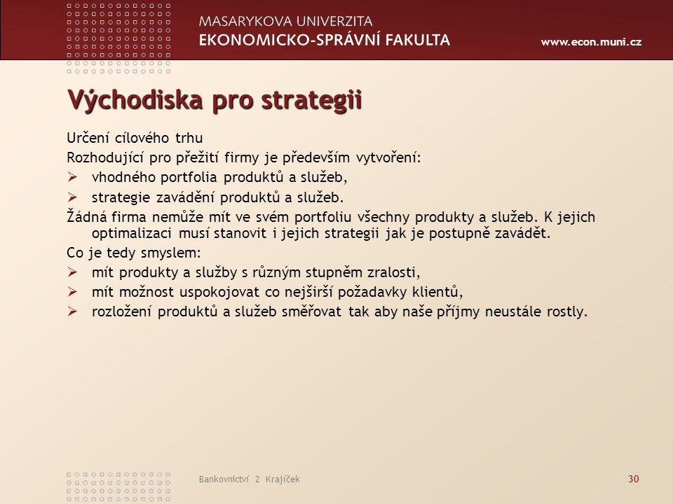 Východiska pro strategii