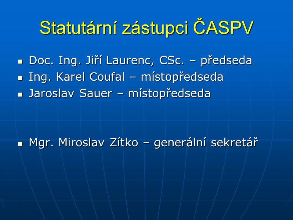 Statutární zástupci ČASPV