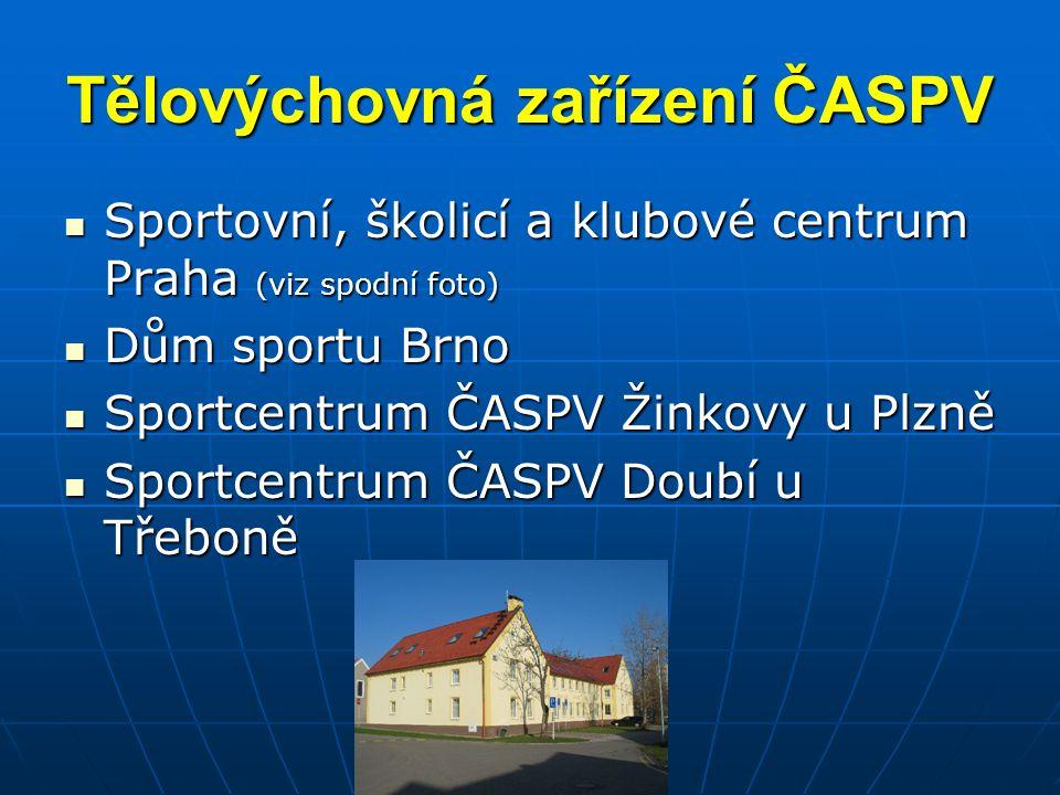 Tělovýchovná zařízení ČASPV
