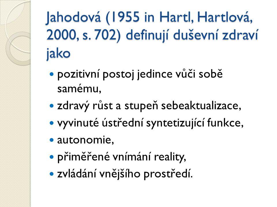 Jahodová (1955 in Hartl, Hartlová, 2000, s