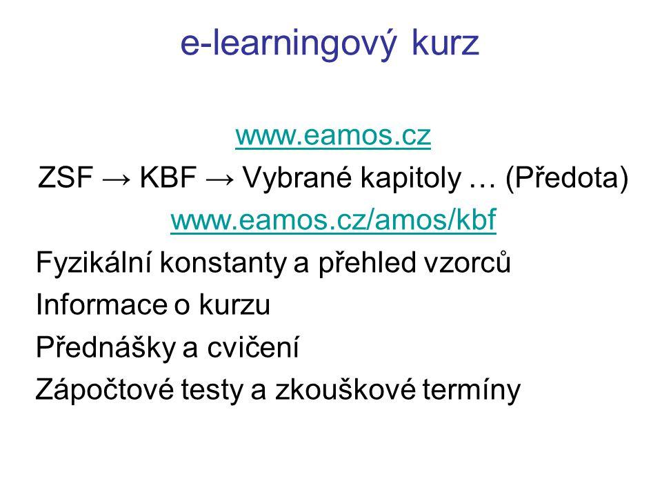 ZSF → KBF → Vybrané kapitoly … (Předota)