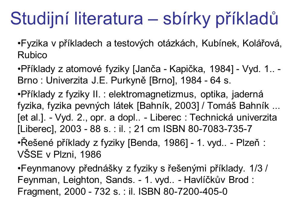 Studijní literatura – sbírky příkladů