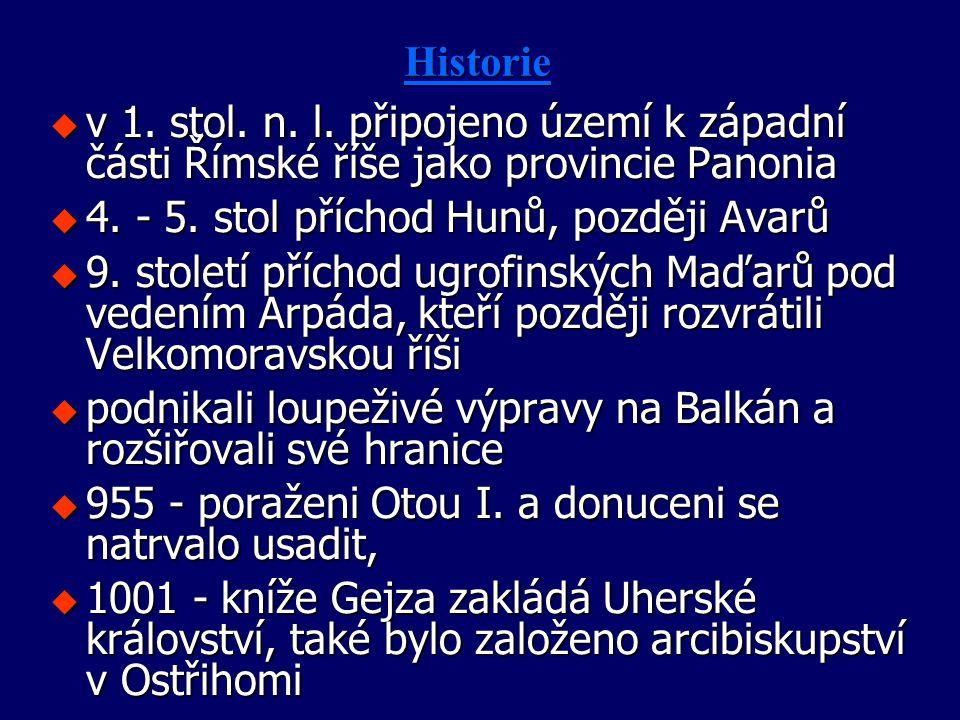 4. - 5. stol příchod Hunů, později Avarů