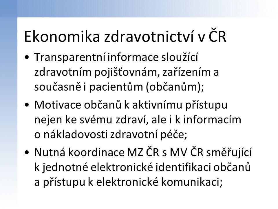 Ekonomika zdravotnictví v ČR