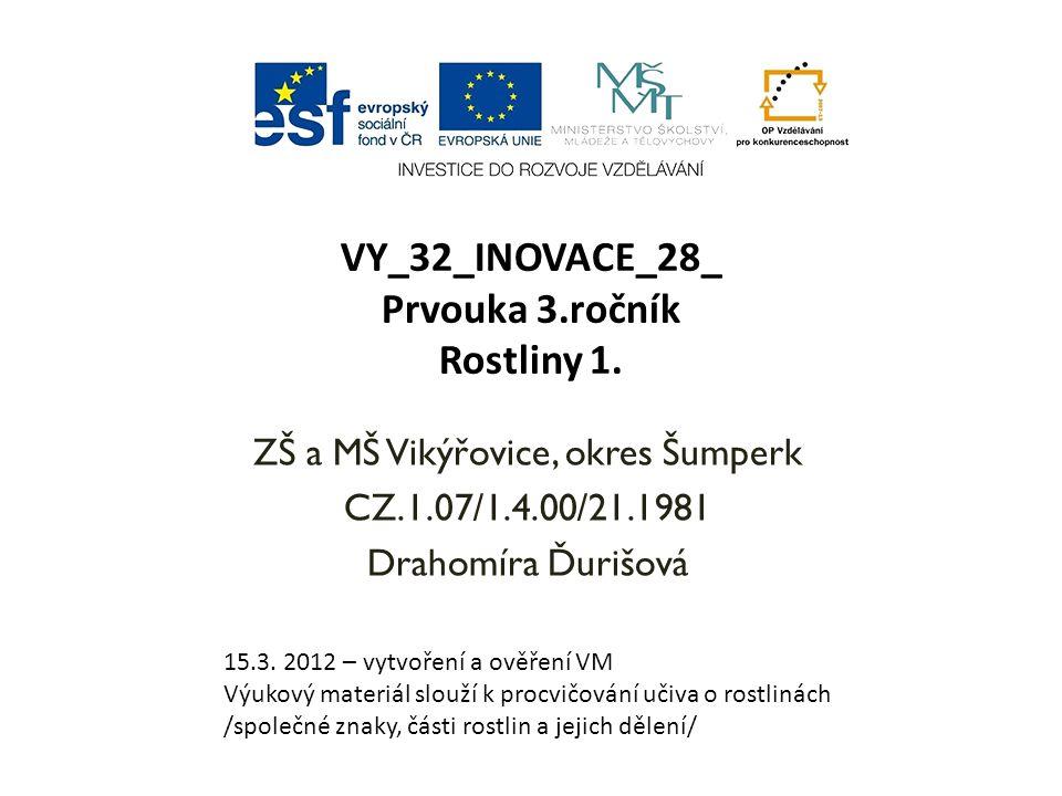 VY_32_INOVACE_28_ Prvouka 3.ročník Rostliny 1.