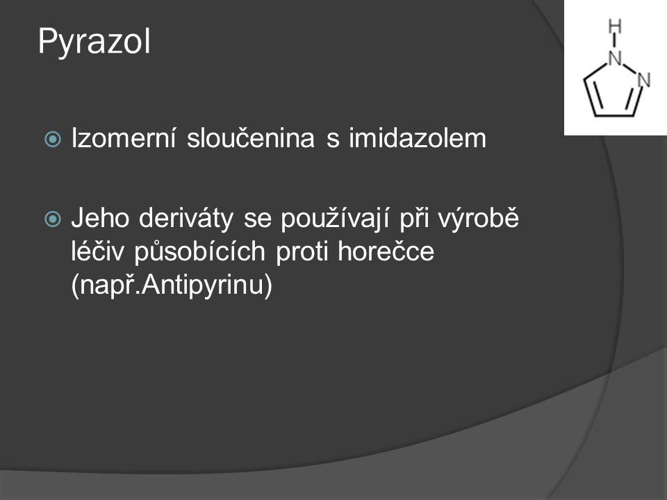 Pyrazol Izomerní sloučenina s imidazolem