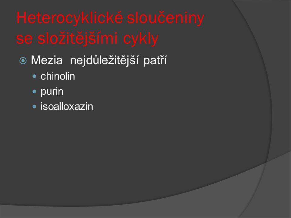 Heterocyklické sloučeniny se složitějšími cykly