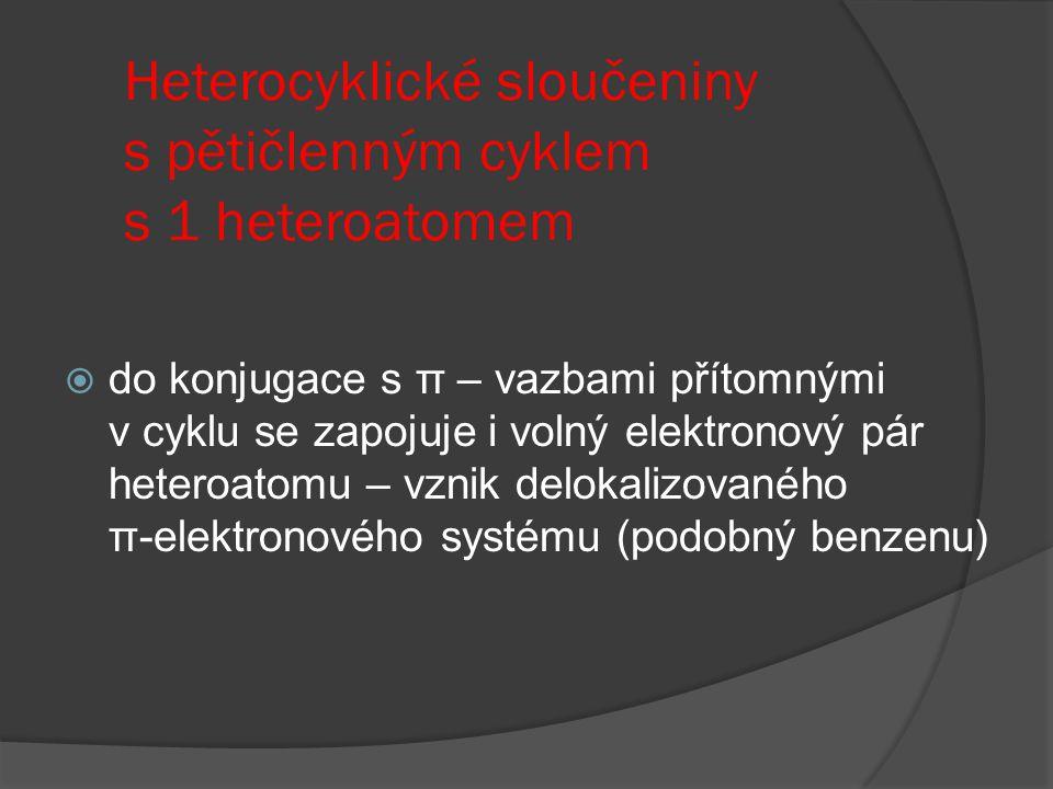 Heterocyklické sloučeniny s pětičlenným cyklem s 1 heteroatomem