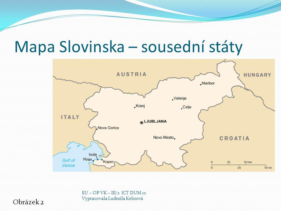Mapa Slovinska – sousední státy