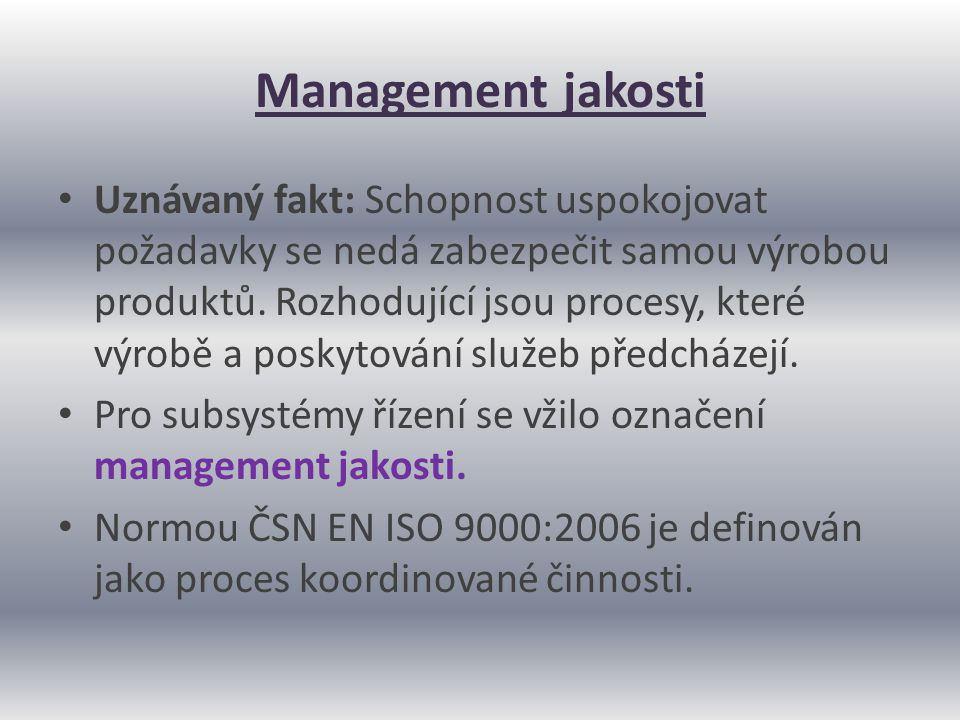 Management jakosti