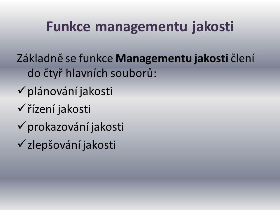 Funkce managementu jakosti