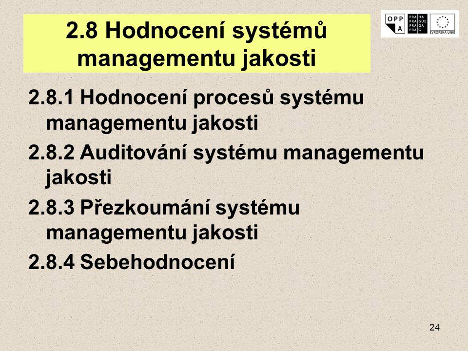 2.8 Hodnocení systémů managementu jakosti