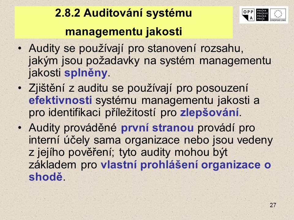 2.8.2 Auditování systému managementu jakosti