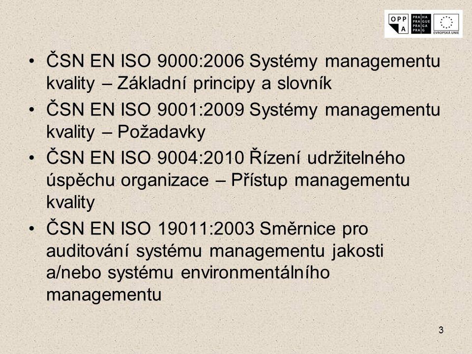 ČSN EN ISO 9000:2006 Systémy managementu kvality – Základní principy a slovník