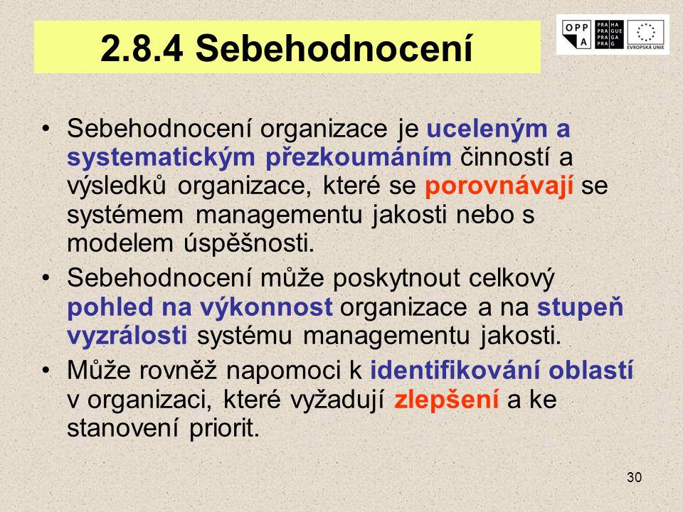 2.8.4 Sebehodnocení