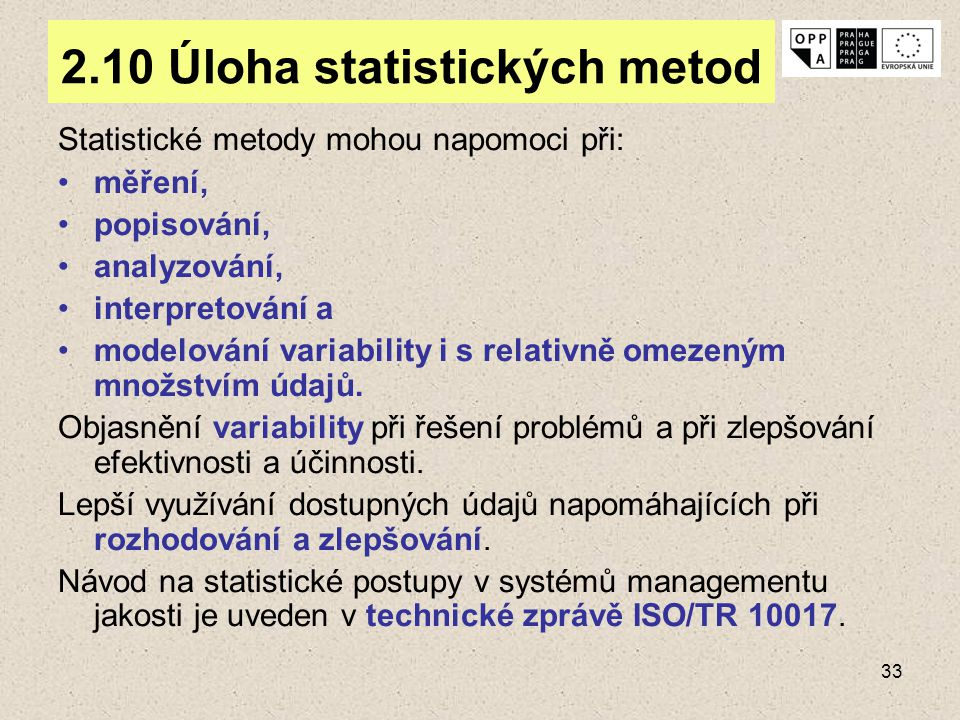 2.10 Úloha statistických metod