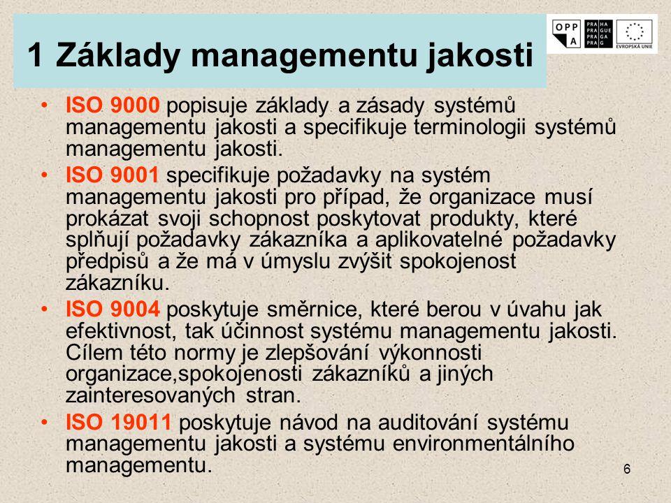1 Základy managementu jakosti