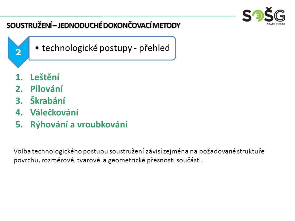 technologické postupy - přehled
