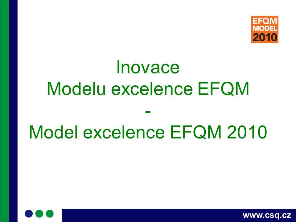 Inovace Modelu excelence EFQM - Model excelence EFQM 2010