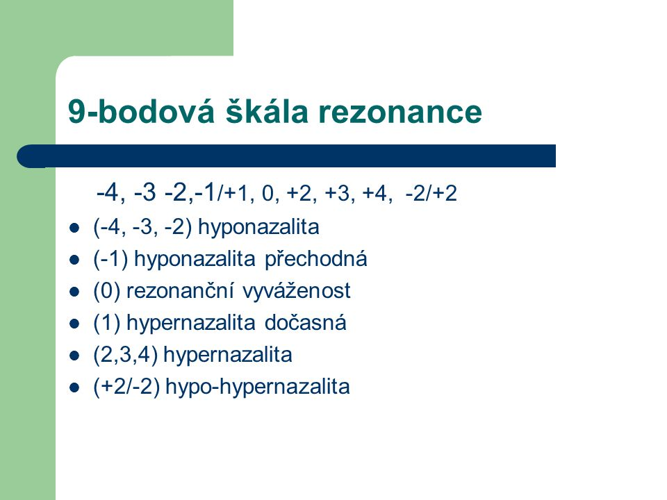 9-bodová škála rezonance