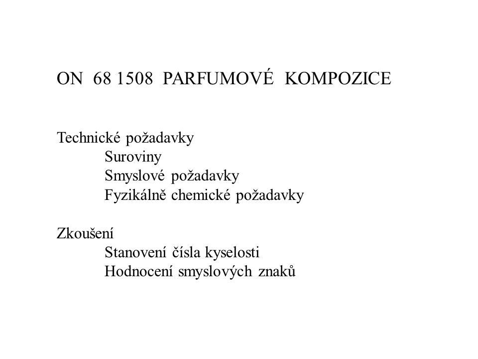 ON 68 1508 PARFUMOVÉ KOMPOZICE