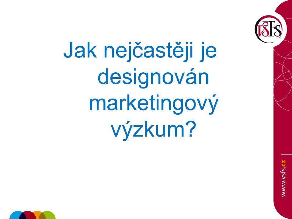 Jak nejčastěji je designován marketingový výzkum