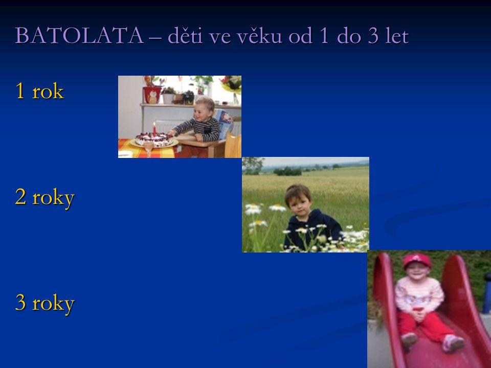 BATOLATA – děti ve věku od 1 do 3 let