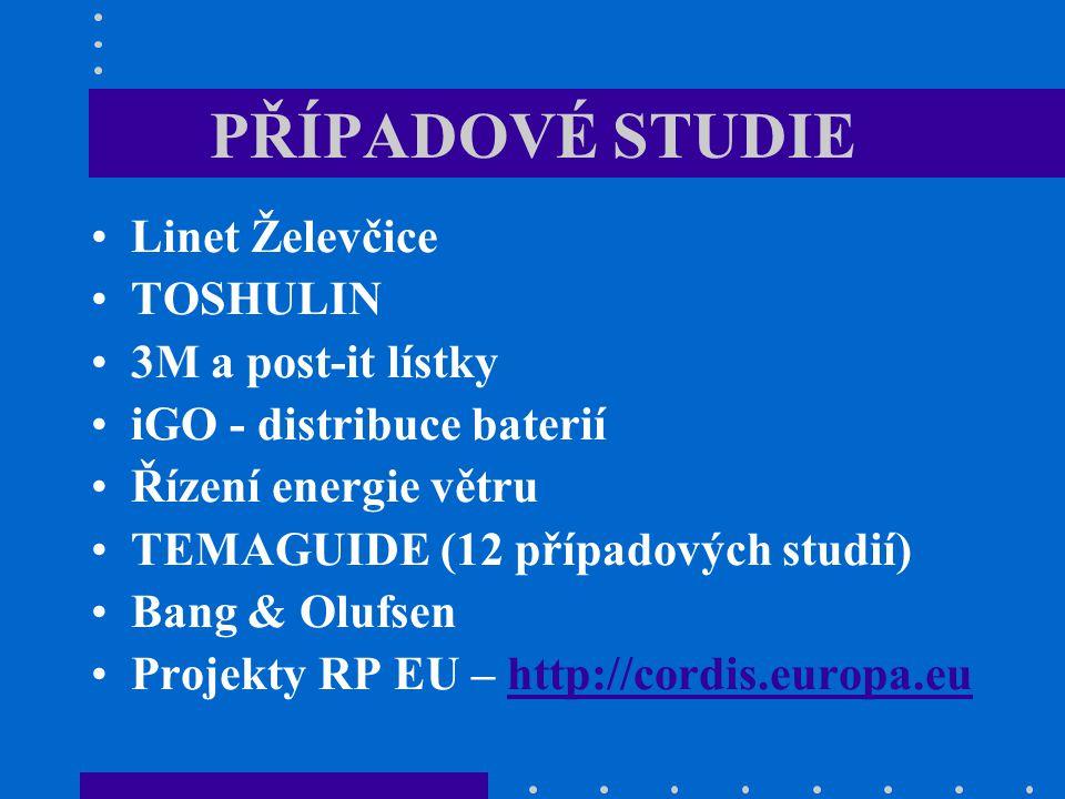 PŘÍPADOVÉ STUDIE Linet Želevčice TOSHULIN 3M a post-it lístky